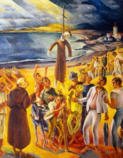 La quema de Judas, 1952.